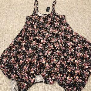 Torrid Floral Handkerchief Cut Dress